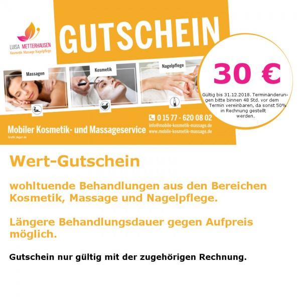 30 Euro - WellnessGutschein