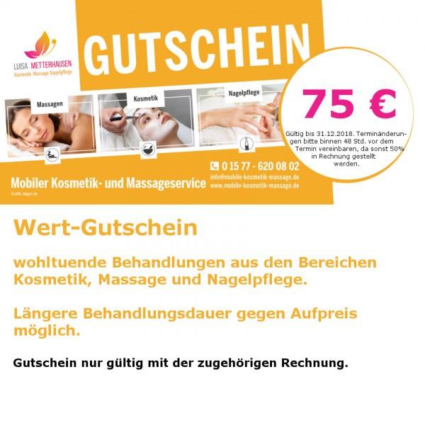 75 Euro - KosmetikGutschein
